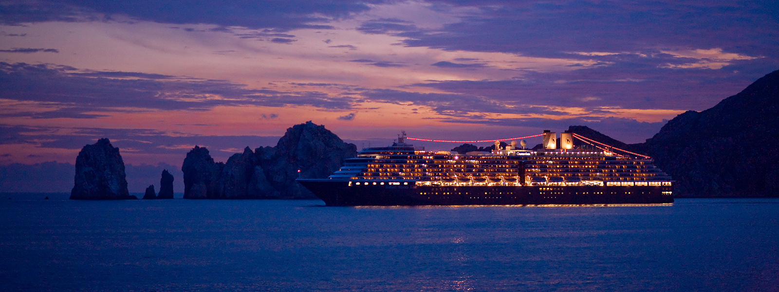 Cruise Ship Sunset in Cabo San Lucas